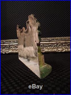 Pristine! Rare Cape Cod Cottage Garden House Cast Iron Hubley Cat. #444 Doorstop