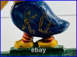 RARE 1920's KU Jayhawk Cast Iron Bookend Doorstop Ashtray #2 kansas KS