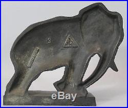 RARE Antique Circa 1930s, German Cast Iron ELEPHANT Figural Doorstop NR