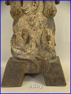 RARE Antique KING CHARLES SPANIEL Figural CAST IRON Old JUDD Marked DOG DOORSTOP