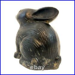 RARE Antique Style Virginia Metalcrafters Cast Iron Bunny Rabbit Door Stop