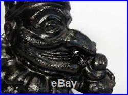 RARE LATE 19TH C 12 PUNCH & JUDY' (UK) CAST IRON DOOR STOP C. 1880, WithORIG PAINT