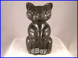 Rare Antique Hubley Albany # 95 Small Sitting Cat Doorstop 1 Piece