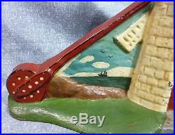Rare Antique Oversized Windmill with Background Cast Iron Door Stop Book Piece