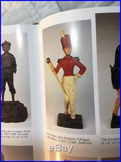 Rare Antique Tall Cast Iron Doorstop Littco Drum Major with Best Original Paint