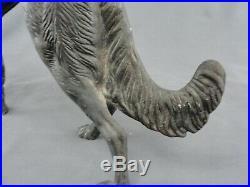 Rare BORZOI Russian Wolfhound Cast Iron Dog Doorstop 16 Size