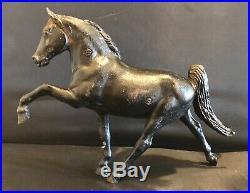 Rare Breyer Cast Iron Midnite SunTennessee Walking Horse Statue Door Step 12
