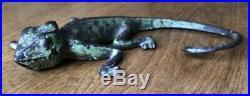 Rare Sherwin Wiliams Paint Advertising Chameleon Lizard Doorstop Cast Iron