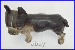 SCARCE Antique Hubley cast iron boxer bull dog Boston terrier pitbull door stop