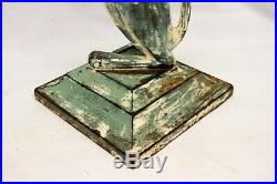 Spencer Foundry Cast Iron Begging BLOODHOUND Doorstop Ashtray Base SCREW TOP