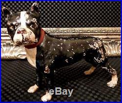 Stoic Antique SKOOG Boston Bull Terrier Dog WWI HERO'STUBBY' Cast Iron Doorstop