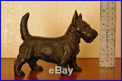 Sweet Vintage Cast Iron Hubley Scotty Scottie Scottish Terrier Doorstop Bookend