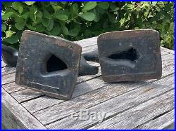 Two Virginia Metalcrafters Cast Iron Duck Doorstops