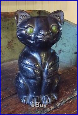 Unusual Black Cat 1246 Antique Cast Iron Doorstop