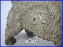 VERY RARE HUGE Antique Hubley Cast Iron Sealyham Doorstop Statue Terrier Dog yqz