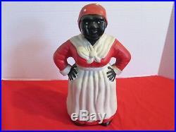 VINTAGE, Antique Aunt Jemima Cast-Iron Doorstop/Bank