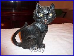 Vintage Rare 1927 Greenblatt Studio Black Cat Doorstop 9 Great Original Paint
