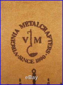 VIRGINIA METALCRAFTERS Cast Iron Black Cat Door Stop ORIGINAL BOX