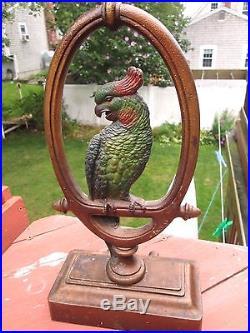Very Large Antique Bradley & Hubbard Parrot Doorstop C1900