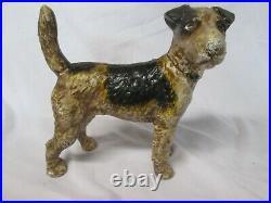 Very Rare Hubley Right Facing Boston Bull Terrier Cast Iron Doorstop / Coin Bank
