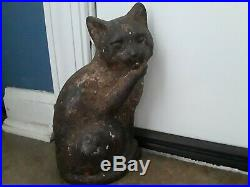 Vintage 1926 Waverly Studios Cast Iron Cat Door Stop Cast Iron Door Stop