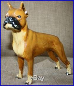 Vintage 1930's Hubley Boxer Dog Cast Iron Doorstop
