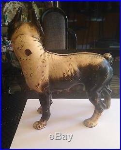 Vintage Antique Cast Iron 1900's Boston Terrier Doorstop Hubley