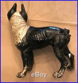 Vintage/Antique Hubley Cast Iron Boston Terrier Doorstop