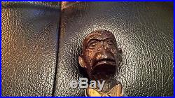 Vintage Ape Black CAST IRON BUTLER STATUE VINTAGE ART DOORSTOP
