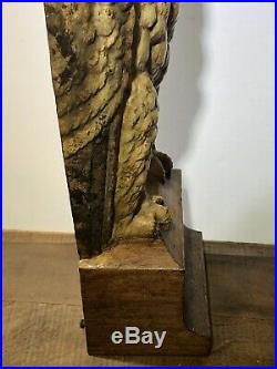 Vintage Bradley & Hubbard Cast Iron Owl Doorstop 7797