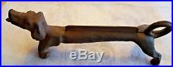 Vintage Cast Iron DACHSHUND WEINER DOG Boot Scraper, Door Stop 22 L / 26 Lbs