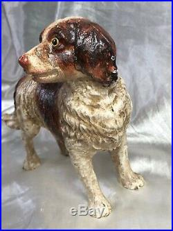 Vintage Cast Iron Dog Animal Hand Painted Door Stay Stop Easter Gift
