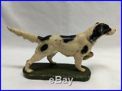 Vintage Cast Iron Hubley Hunting Dog Doorstop
