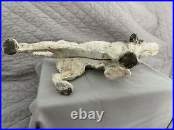 Vintage Cast Iron Pointer Setter Dog Antique Door Stop Flat Screw Nice Condition