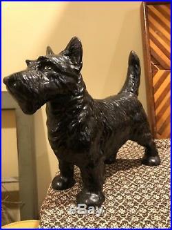 Vintage Cast Iron Scottie Dog Hubley Doorstop Very Heavy