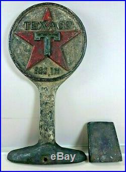 Vintage Cast Iron Texaco Door Stop