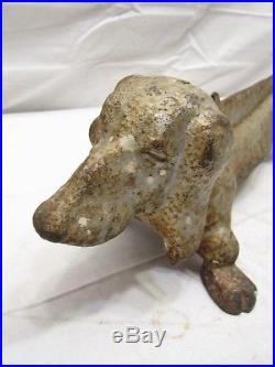 Vintage Cast iron Dachshund Weiner Dog Boot Scraper Shoe Door Stop
