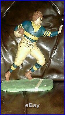 Vintage Football Player Cast Iron Figural Door Stop 9