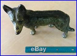 Vintage Hubley #290 cast Iron left facing police dog german shepherd door stop