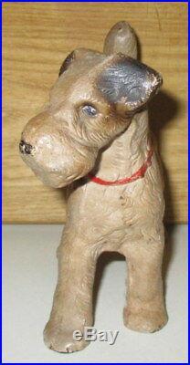 Vintage Hubley Cast Iron Fox Terrier Dog Doorstop