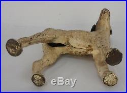 Vintage Hubley Cast Iron Terrier Dog