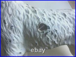 Vintage Hubley Cast Iron Terrier Dog. Door Stop or Bank
