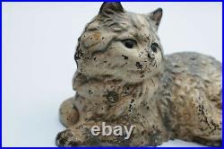 Vintage Hubley Persian Cat Cast Iron Doorstop