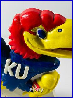 Vintage KU University of Kansas Jayhawk Cast Iron Doorstop bookend #2