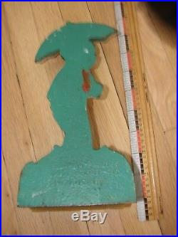 Vintage Little Black Sambo door stop- cast iron- great paint