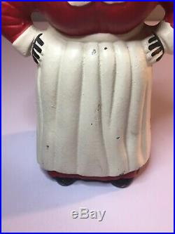 Vintage Mammy Aunt Jemima Cast Iron Bank Doorstop 8 In. Rare, Good Condition