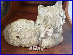 Vintage Original Hubley #335 Fireside Cat Cast Iron Door Stop