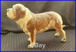 Vintage Rare 1970's Breyer Cast Iron Saint Bernard Door stop st bernard Hubley