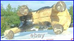 Vintage antique repro Hubley Boston Terrier Bull Dog Cast Iron Door stop statue