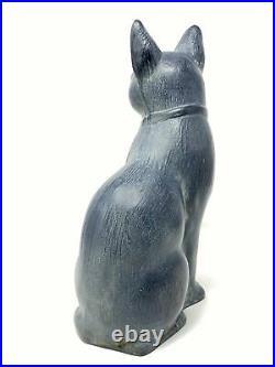 Virginia Metalcrafters Cast Iron Cat with Collar Door Stop/Garden Ornament